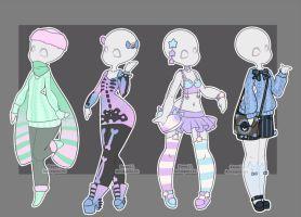 Gachapon Clothes By Kawaii Antagonist On Deviantart Drawing Anime Clothes Drawing Clothes Character Design
