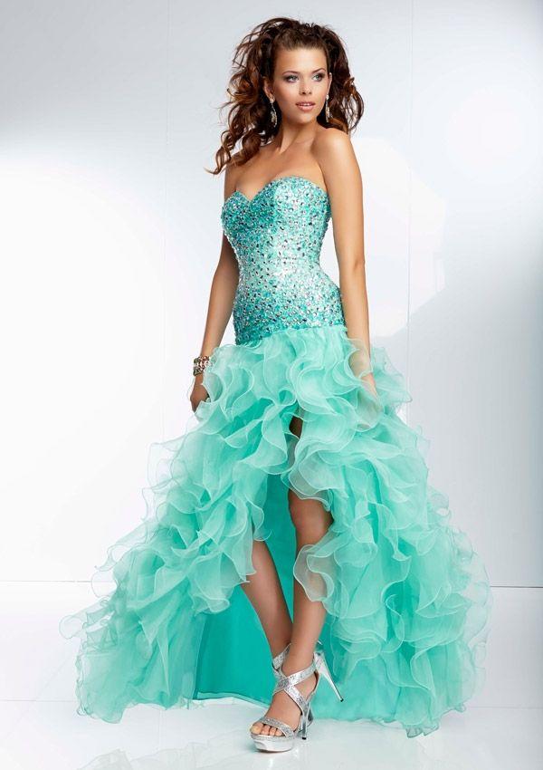2014 Mori Lee Organza Ruffled Prom Dresses 95091 | Prom Dresses ...