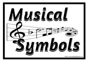 Musical Symbols Cards Music Lessons Piano Teaching Teaching Music