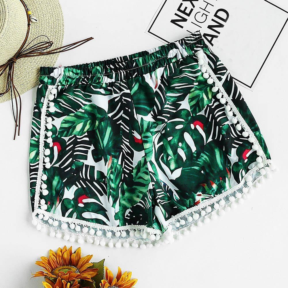Womail Women shorts Summer Print  Bohemian Casual Shorts Mid Waist …