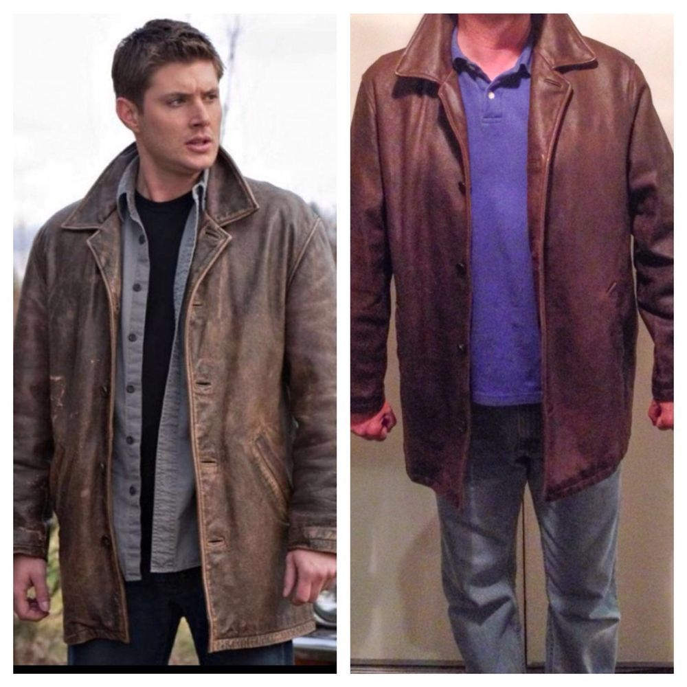47b192174 RARE Dean Winchester Jacket CW Supernatural Wilson's Leather Car Coat size  LARGE #WilsonsLeather #BasicCoat