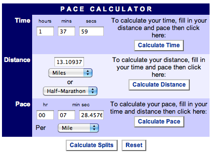 Tips For Running A Half Marathon Cool Runnings Pace Calculator