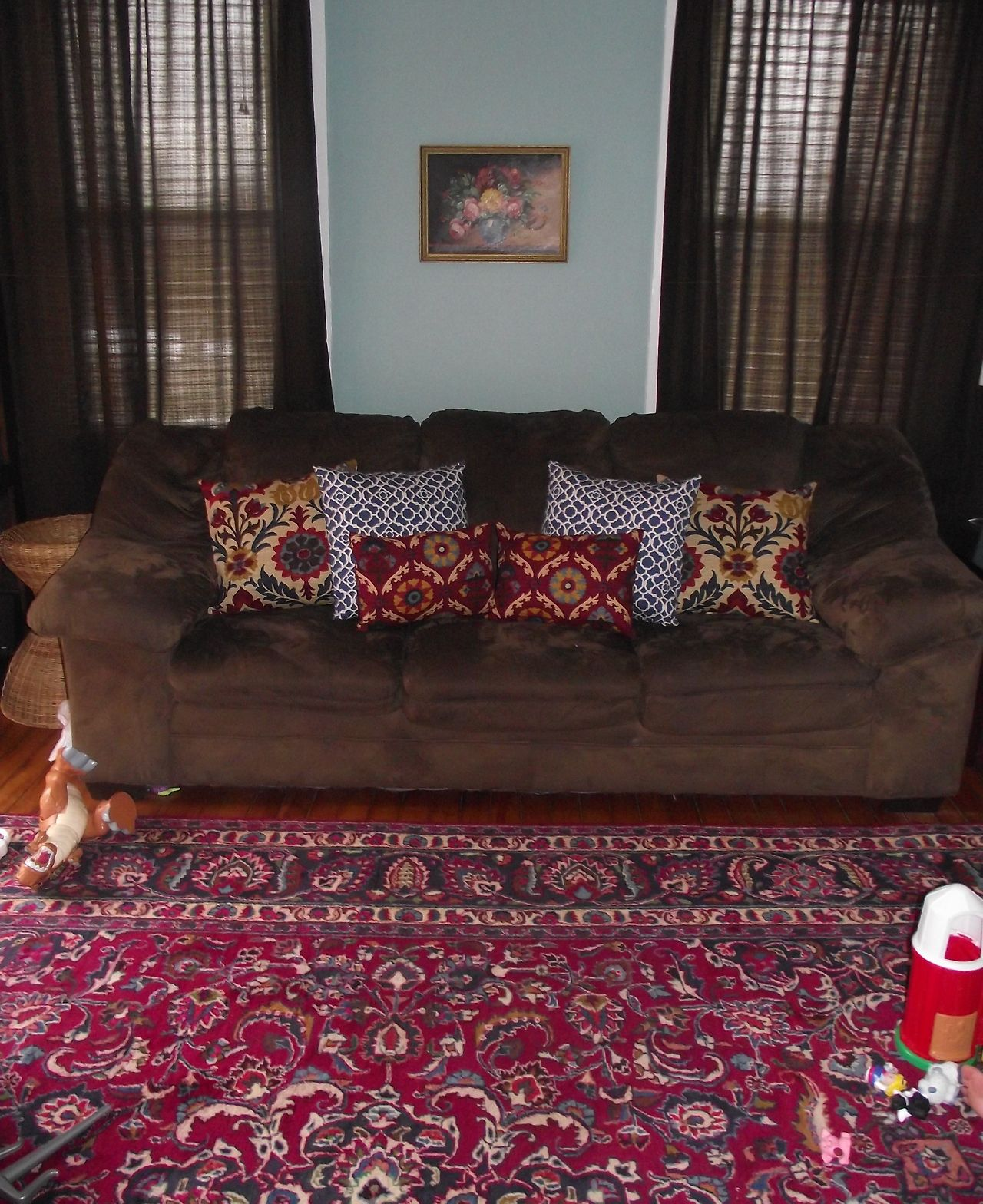 I Sewed New Throw Pillows To Match Our New 1930 S Persian Rug