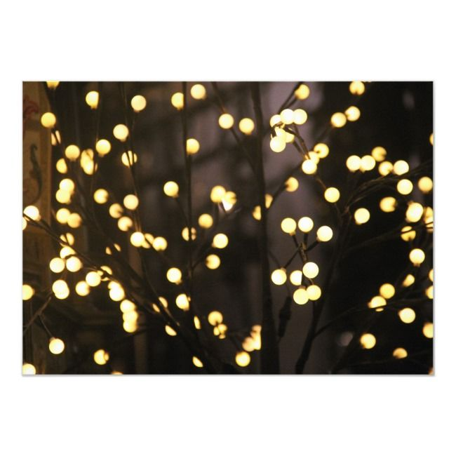 Elegant Christmas string lights business corporate Invitation | Zazzle.com