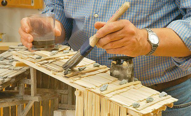 alpen krippe bauen schritt 36 von 43 maket pinterest krippe bauen alpen und spielger te. Black Bedroom Furniture Sets. Home Design Ideas