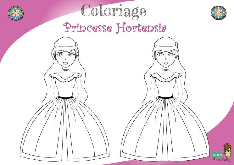 Coloriage Princesse Coloriage princesse, Coloriage et