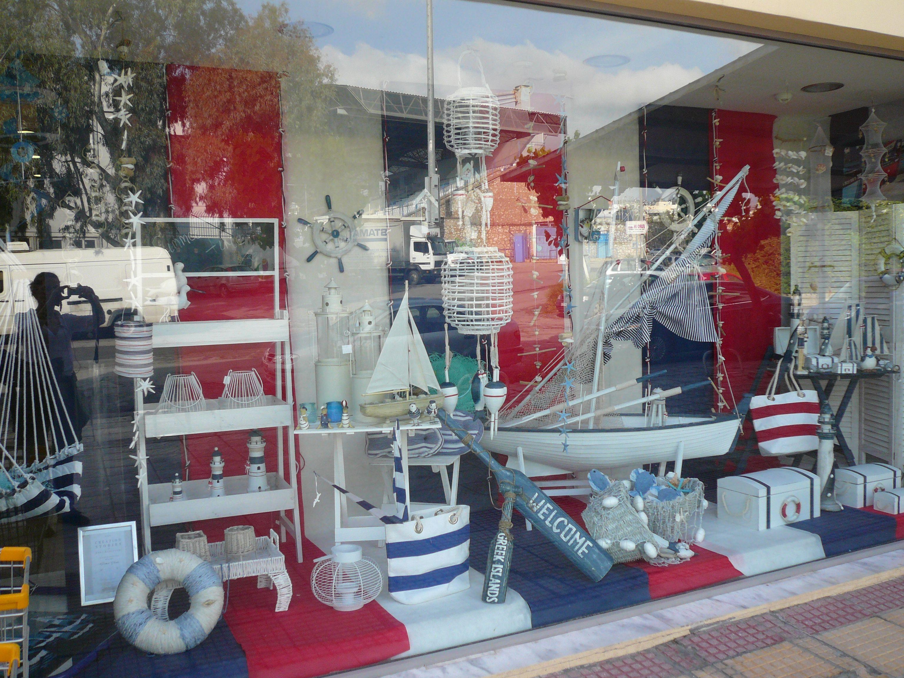 navy window theme decor by Anna Remoudaki & Konnstantina Grigoriou.