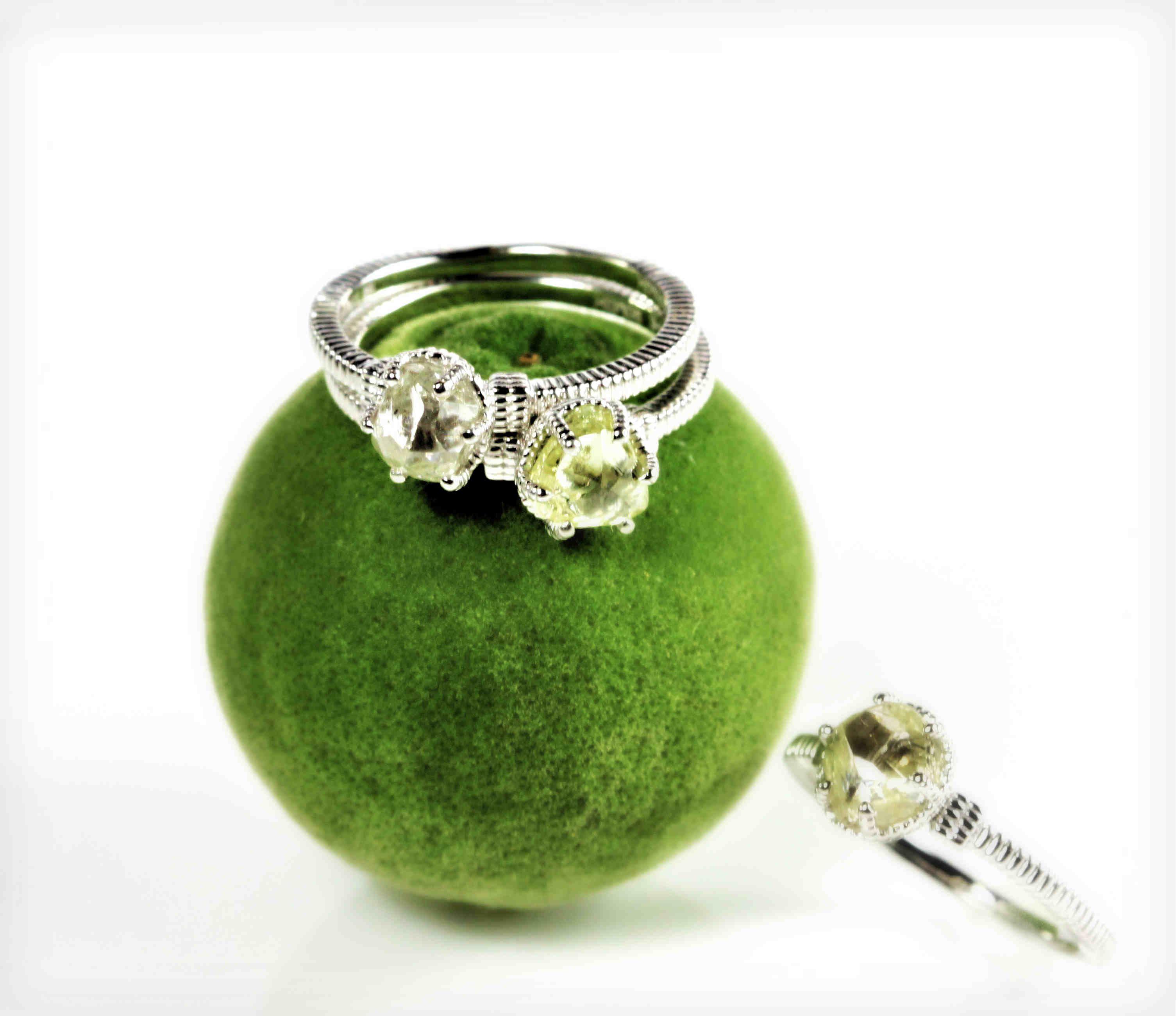 Nouveau Rings  #lime #green
