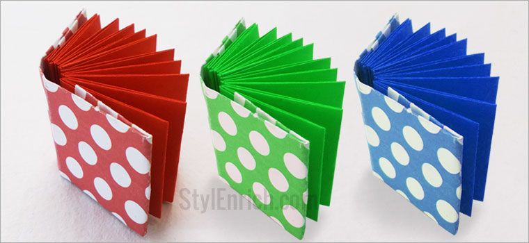 Easy origami notebook diy craft ideas for kids for Where to buy contact paper for crafts