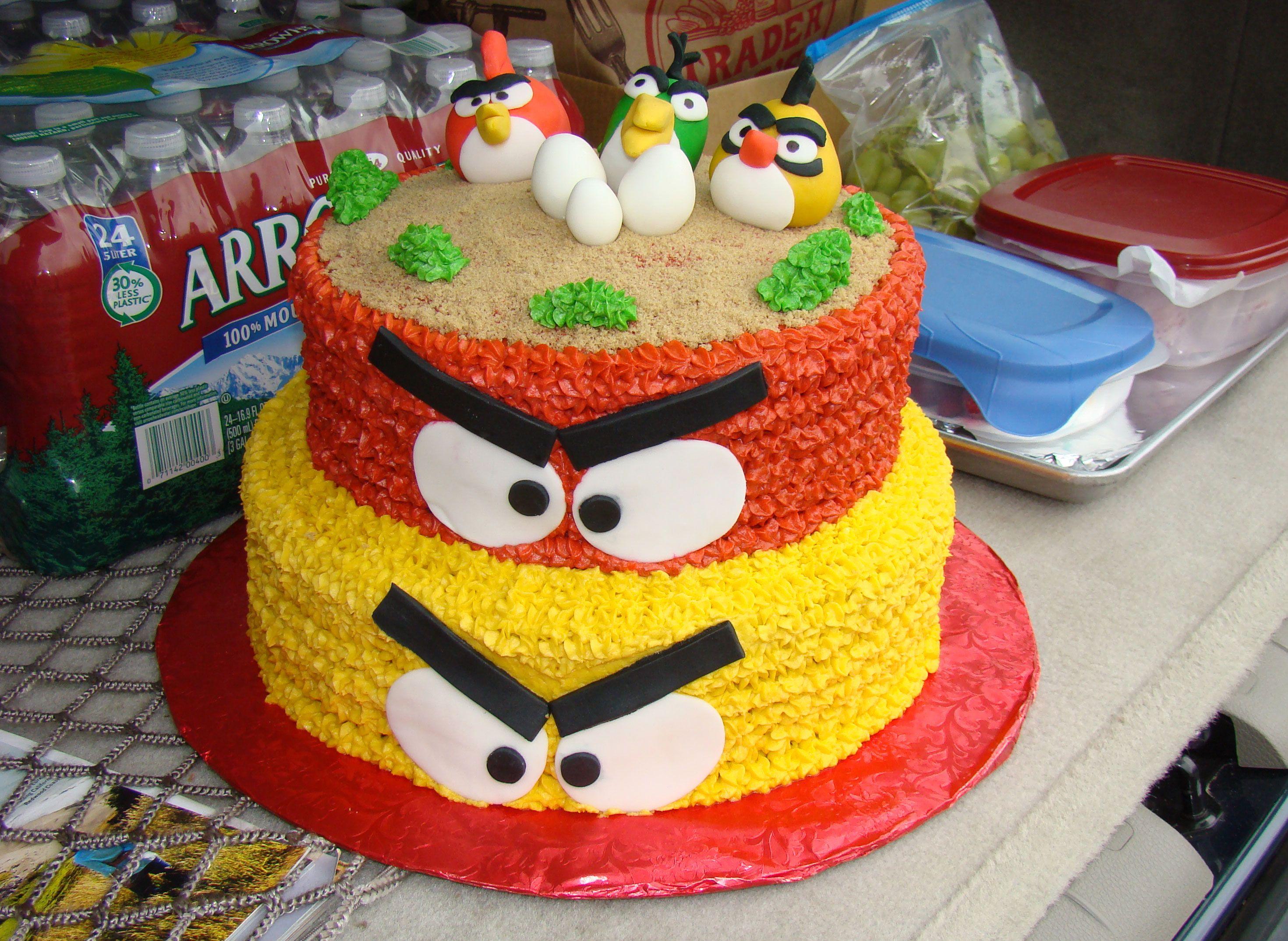 Homemade Cake Ideas For Boys angrybirdscake2 Birthday Party