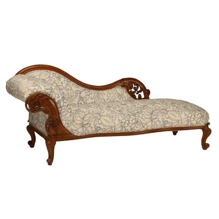 19th Century American Victorian Oak Fainting Couch