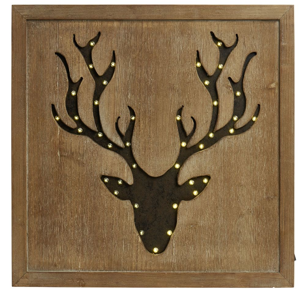 Wilko Led Stag Wall Art | Stuff for number 60 | Pinterest
