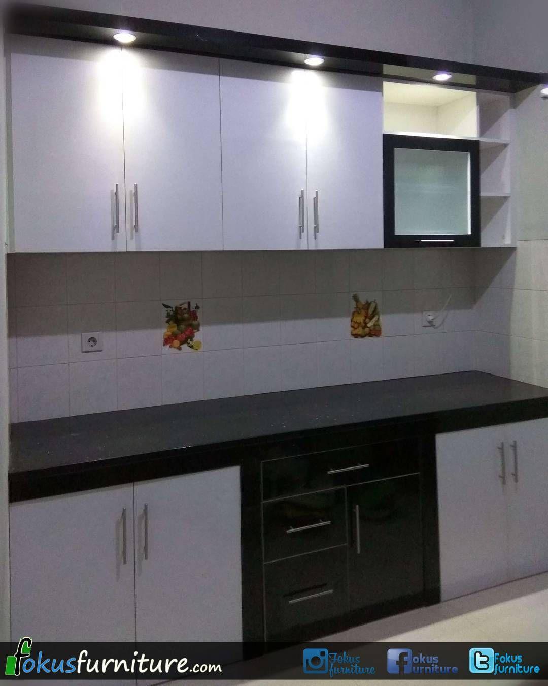 Kitchen set lemari dll 🔵 di instagram kitchen set model lurus finishing hpl hitam