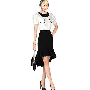 Women's Sexy Casual Party Plus Sizes Micro-elastic Medium Knee-length Skirts (Spandex) - USD $ 18.53
