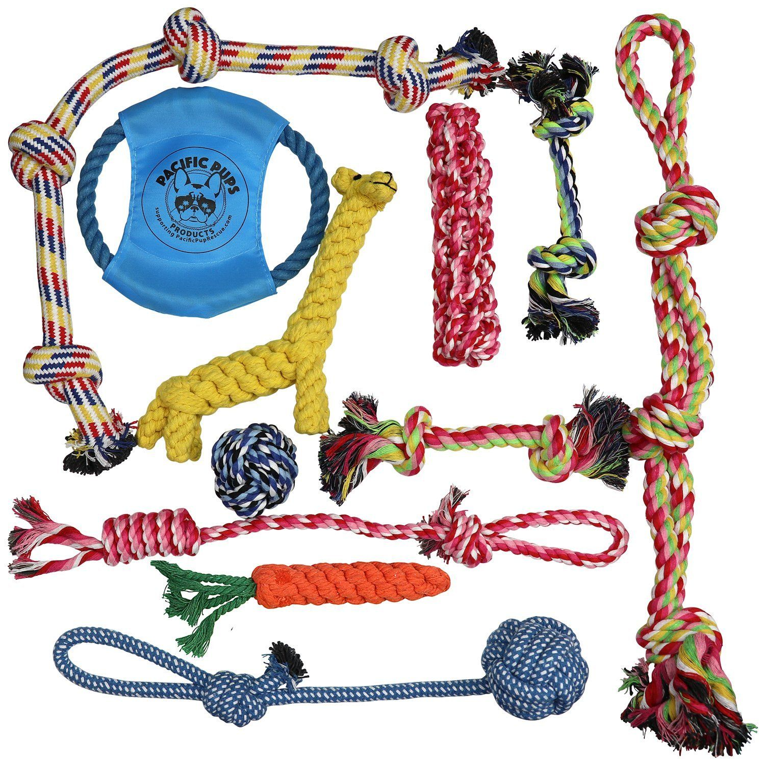 Dog Rope Toys For Aggressive Chewers Set Of 11 Nearly