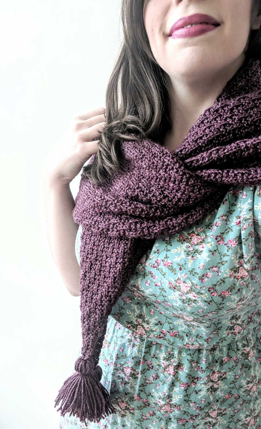 She Conquers Tassel Scarf knitting pattern by Lindsey Faciane / The ...