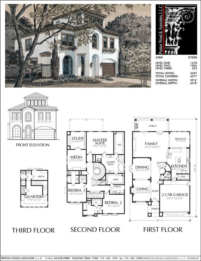 Two Story House Plan D7008 Two Story House Plans Story House House Blueprints