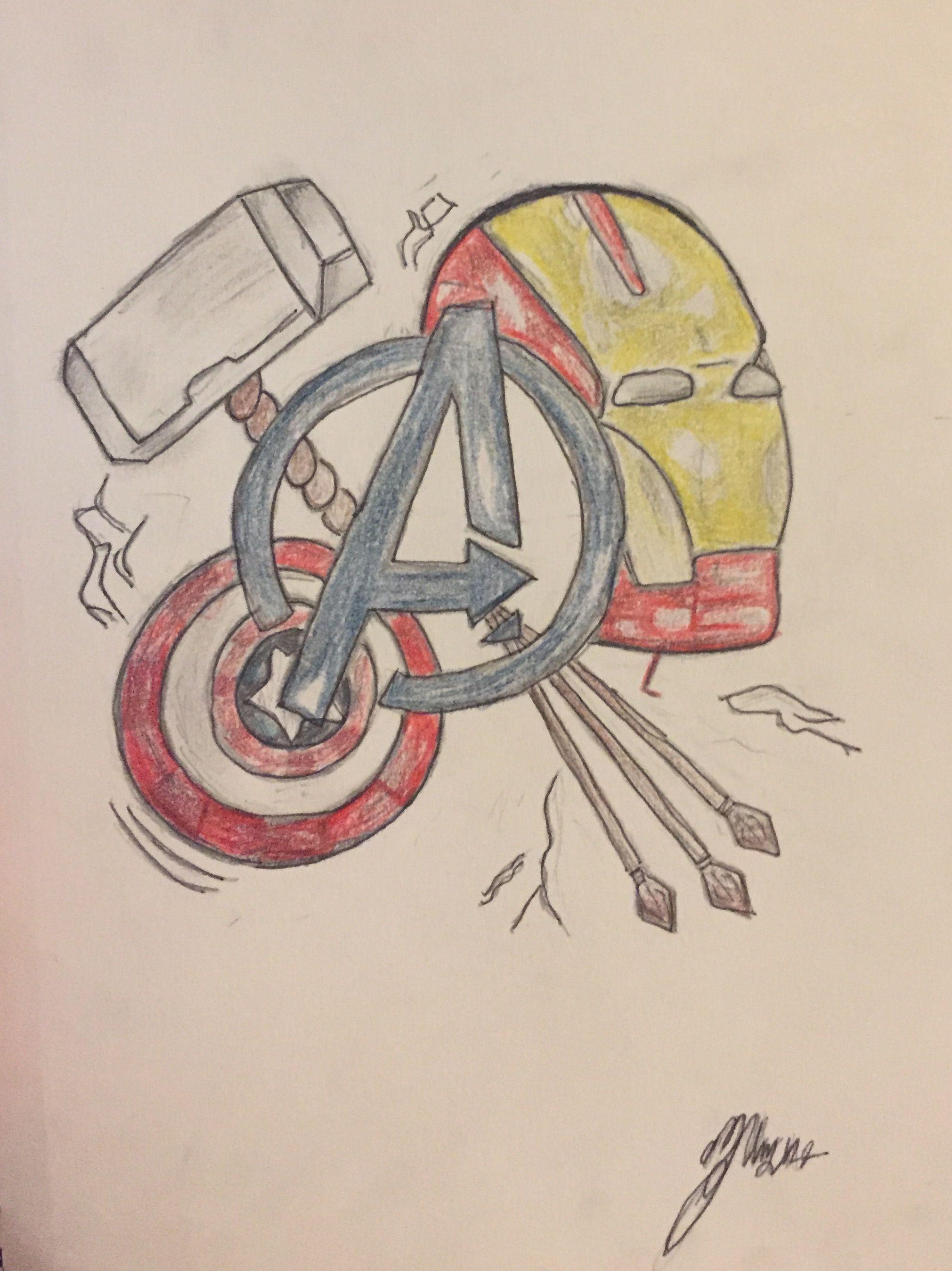 Avengers Drawing Avengers Drawings Avengers Logo Avengers Wall Art