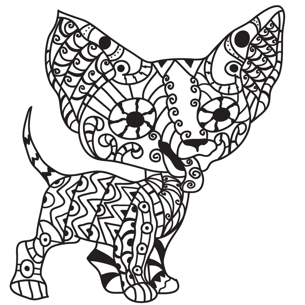 Dog Coloring Pages For Adults Dog Coloring Page Dog Coloring Book Coloring Pages [ 1024 x 1024 Pixel ]