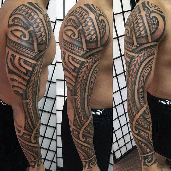 40 Polynesian Sleeve Tattoo Designs For Men Tribal Ink Ideas Tattoo Sleeve Designs Tattoo Designs Men Tribal Sleeve Tattoos