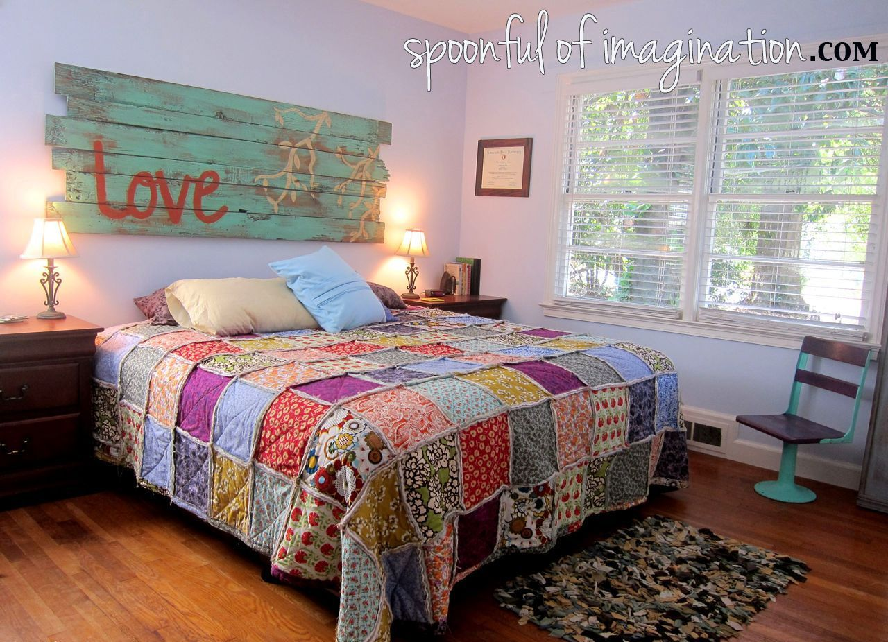 DIY King Size Rag Quilt {Repost Rag quilt patterns, Rag