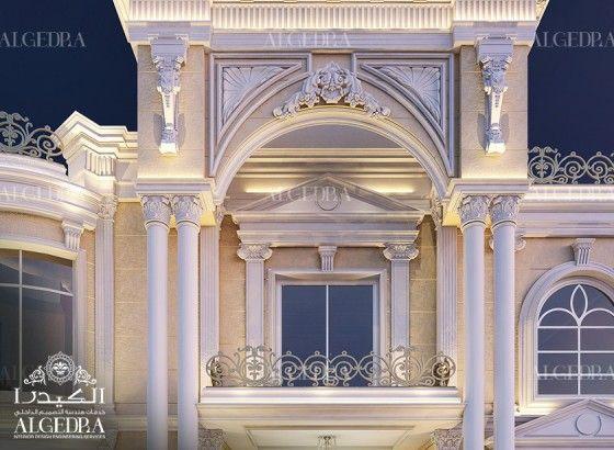 elegant villa exterior design by Algedra   Somptueux intérieurs ...
