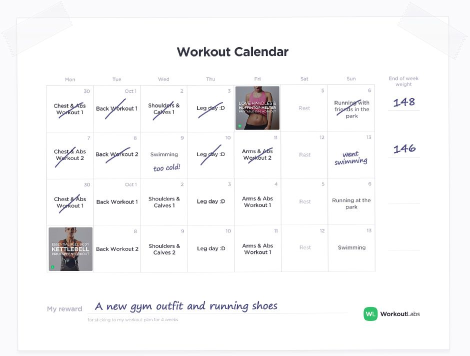 Keeping A Workout Calendar Is Essential Create Yours With