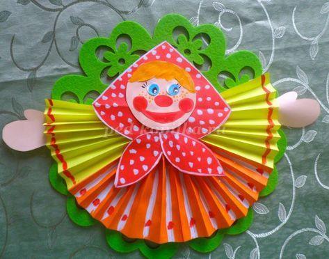 Кукла Масленица из цветной бумаги своими руками ...