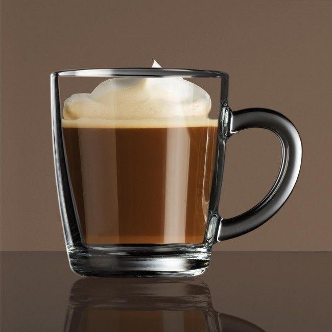 Pasabahce Barista Coffee Collection Glass Coffee Mug Set of 2