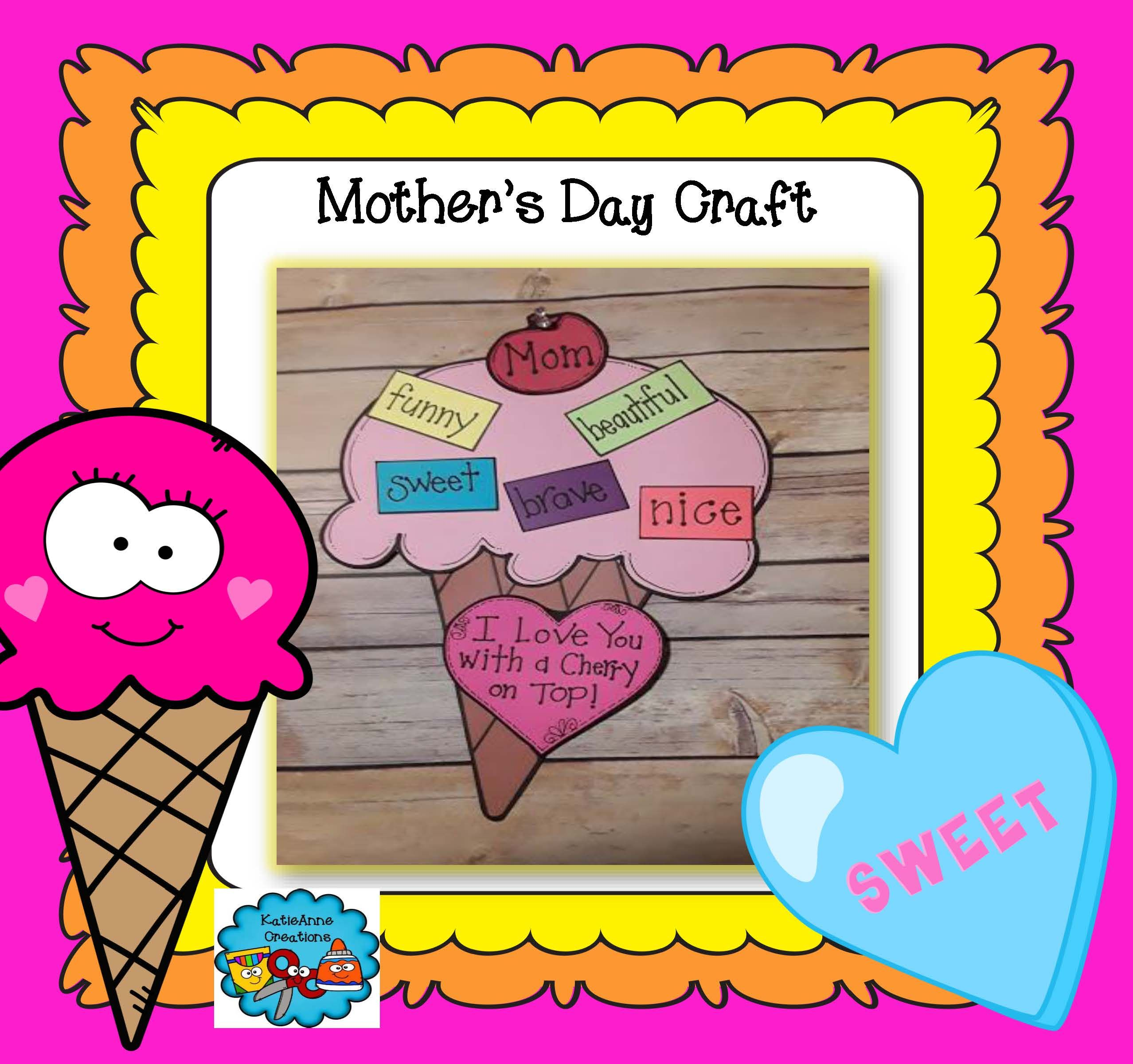 Mother S Day Craft Ice Cream Cone Craft Mothers Day Crafts Ice