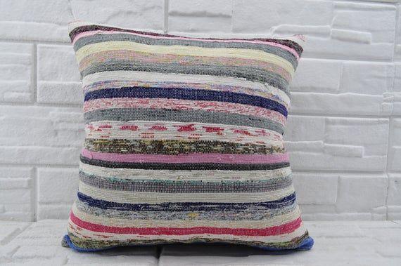 20x20 striped kilim pillow bedrrom pillow sofa pillow bohemian pillow turkish kilim pillow home decor decorative kilim pillow No 560  2020 striped kilim pillow bedrrom pi...
