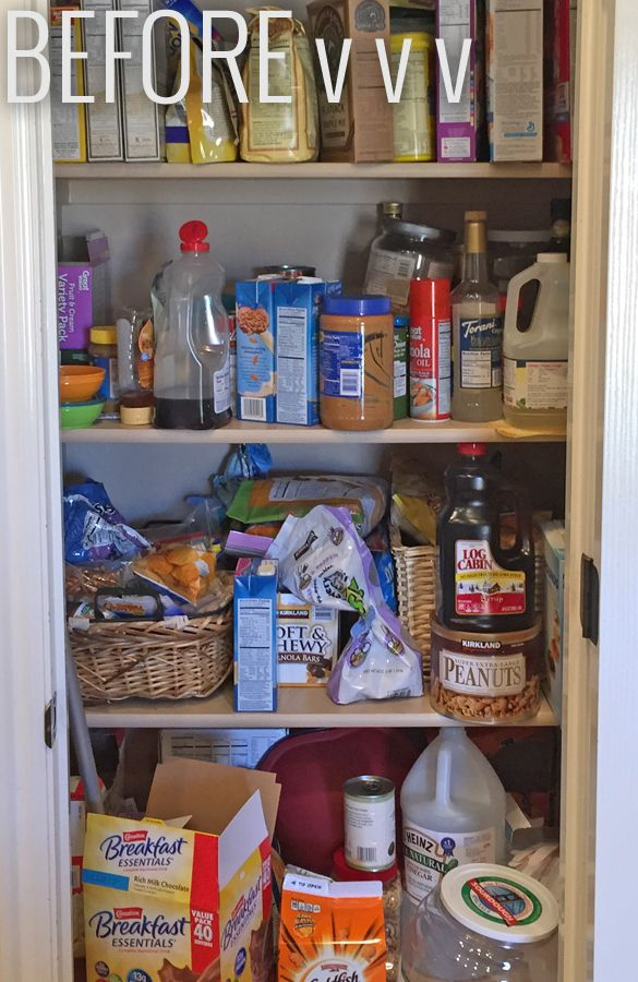 Before Crammed Full Small E Organization Pantry Ideas