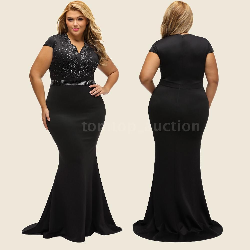 Nice great plus size womenus long evening formal party dress ball