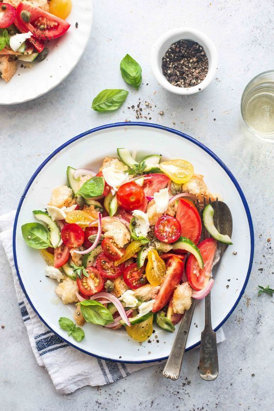 panzanella salad  recipe  salad food photography food
