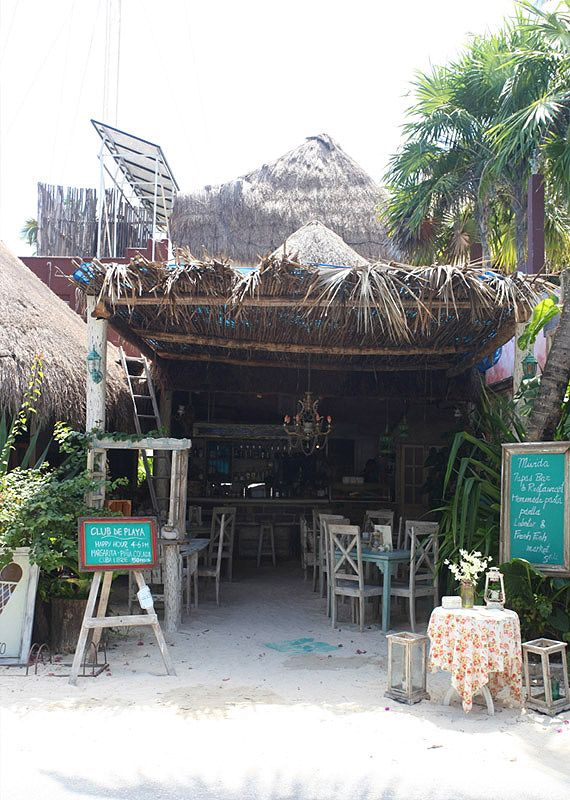 Mivida Tapas Bar, Tulum | My first favorite place to relax in Tulum for a champagne with the girls. Love the street vibe. #RaskinsinMexico2015 #beenthere