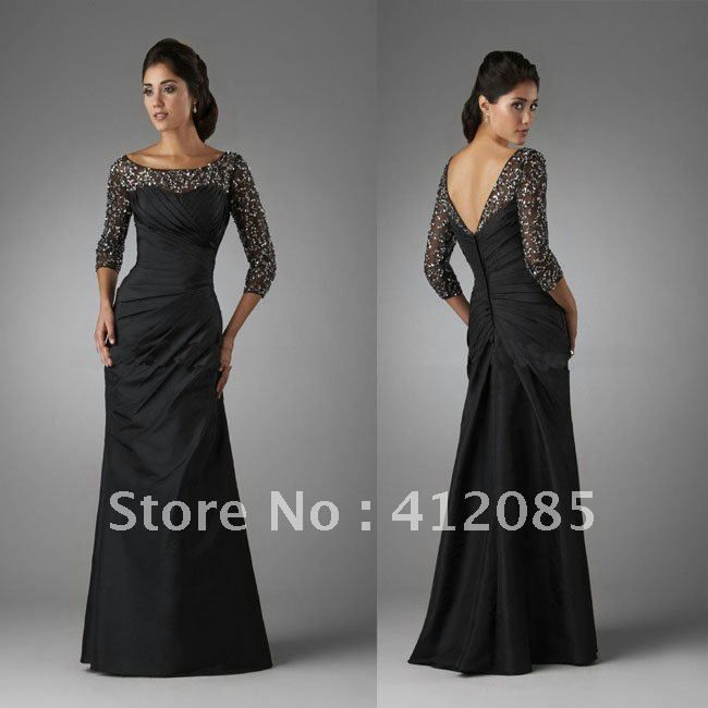 Black Long Sleeve Bridesmaid Dresses