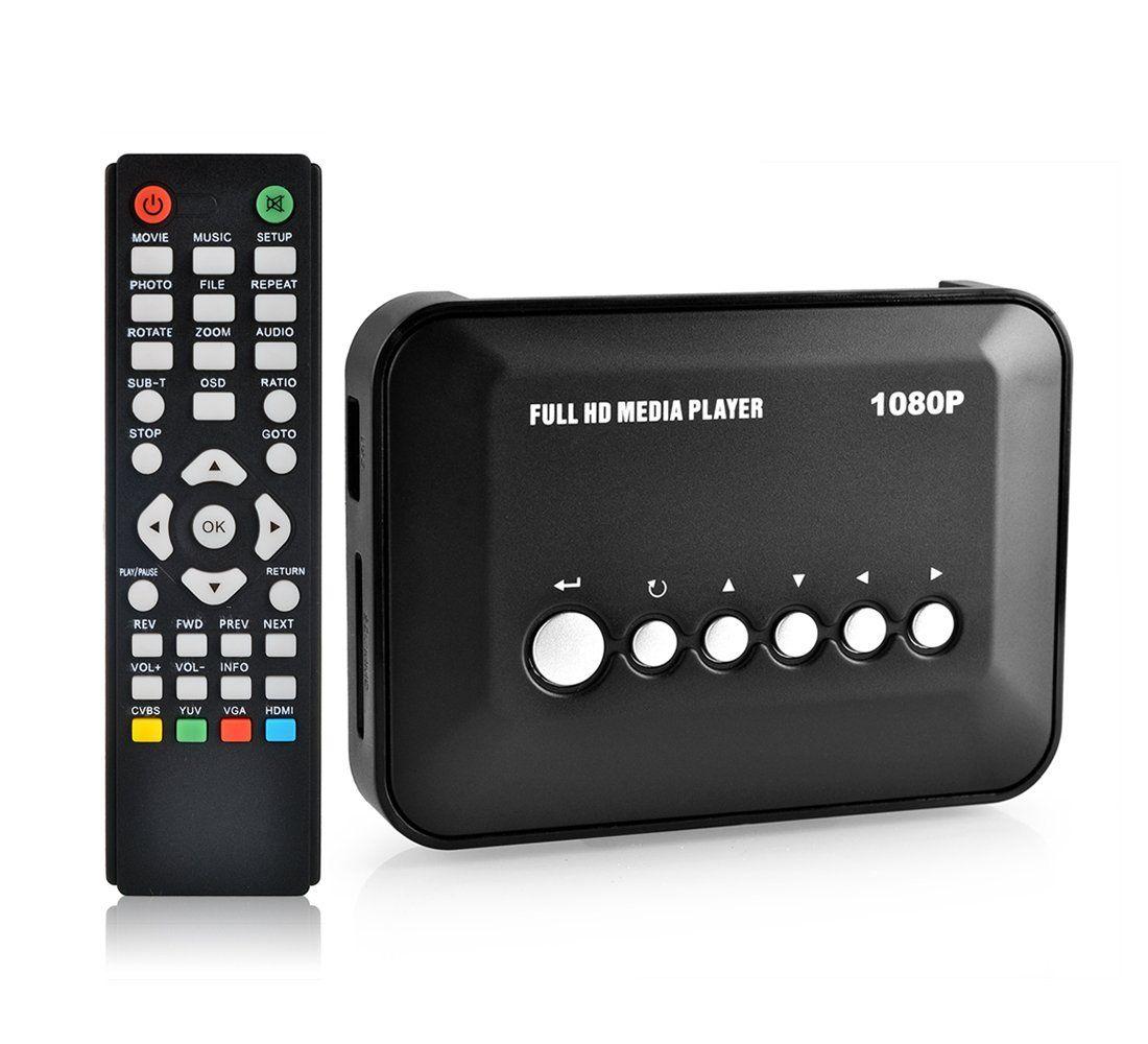 Mini HD Media Box Multi Media Player Upscaling Full HD 1080P HDMI USB SDHC MKV