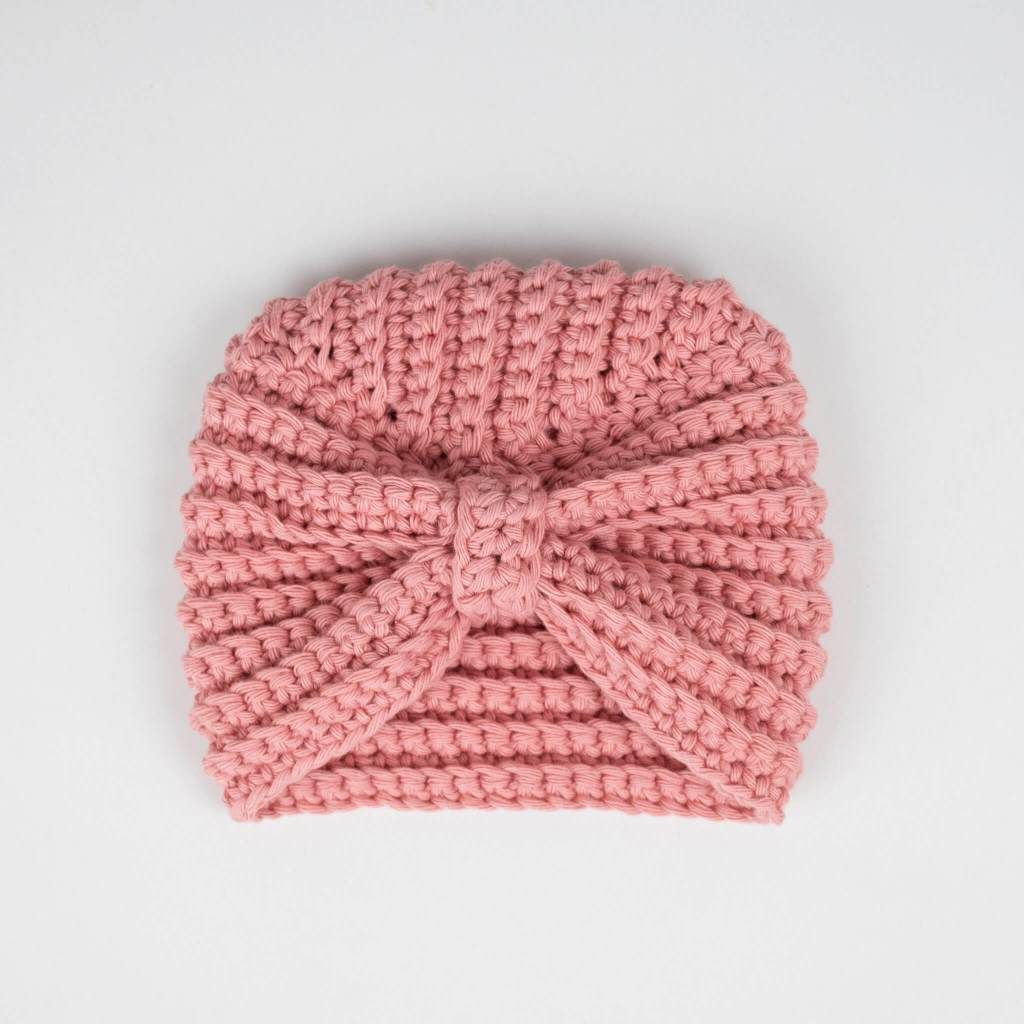 Handmade Crochet Baby Turban Headbands in sizes 0-12 months made to order