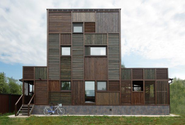 Wood Patchwork House // Peter Kostelov // Russia