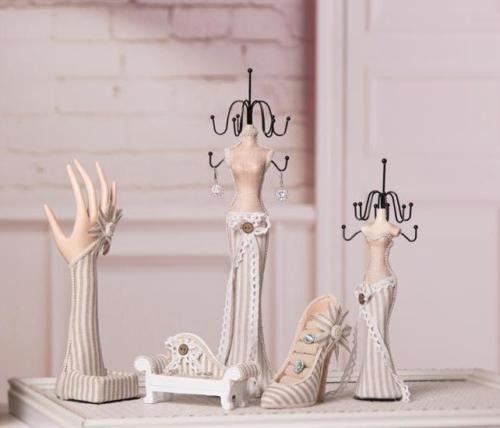 Elegant Mannequin Jewellery Display Holder Stand Jewelry Necklace Rack Ornament Jewellery Display Jewelry Necklaces Display