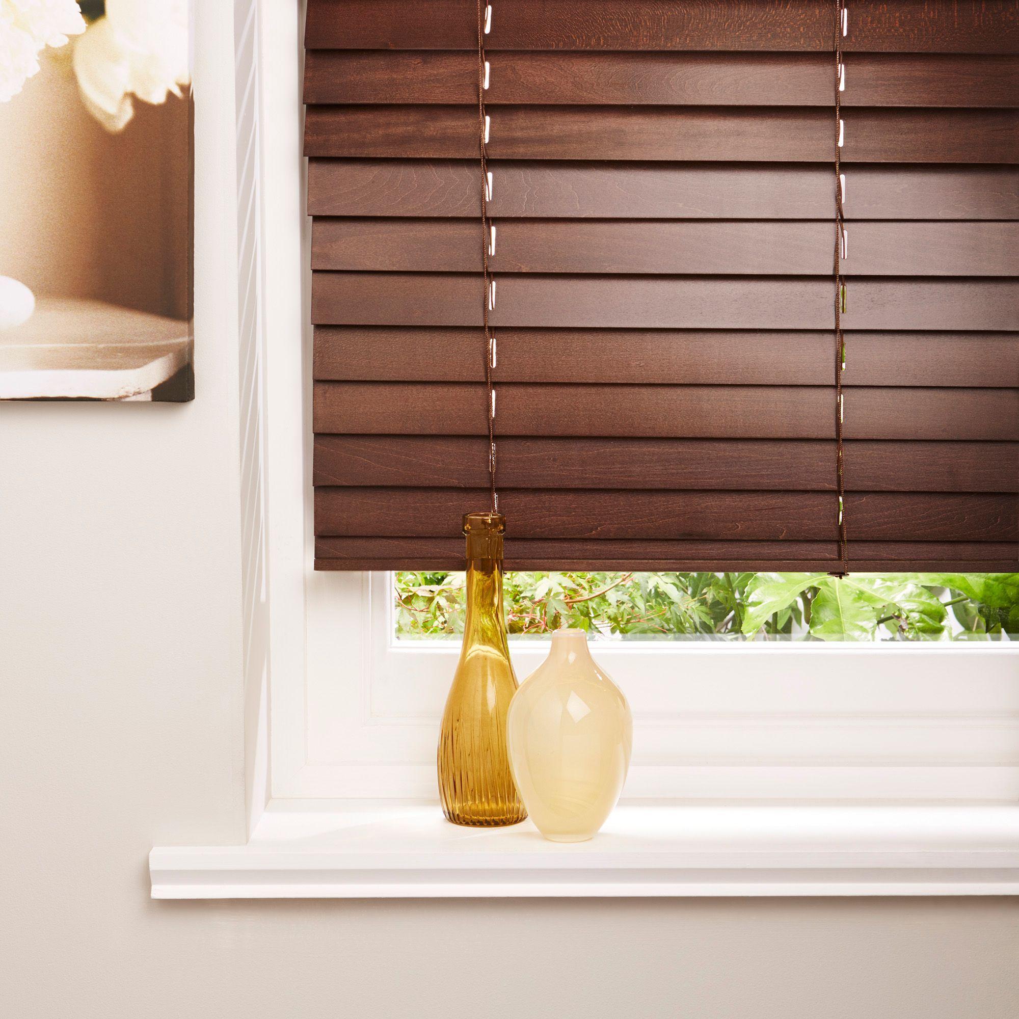 Colours Brown Venetian Blind (W)120cm (L)160cm
