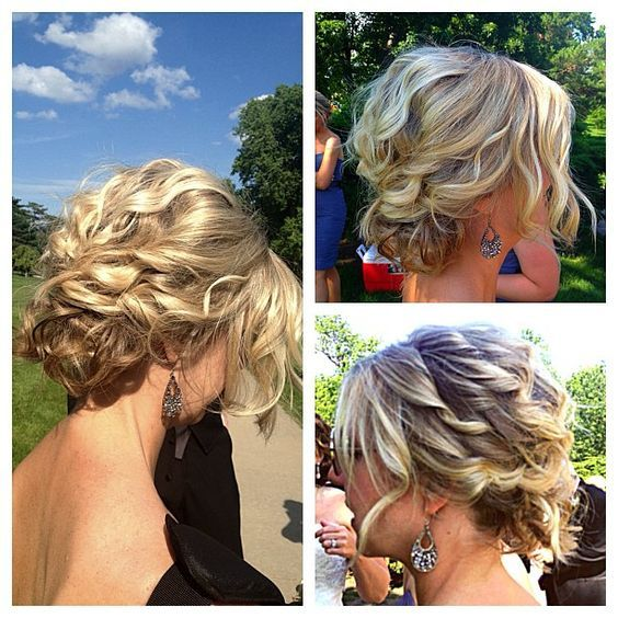 Short Hair Updos For Wedding Short Hair Updo Hair Styles Bridesmaid Hair