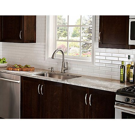 slate kitchen faucet moen pull out pasadena 1 handle down in finish dream