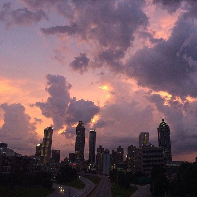 Purple sunset in Atlanta, #Georgia.