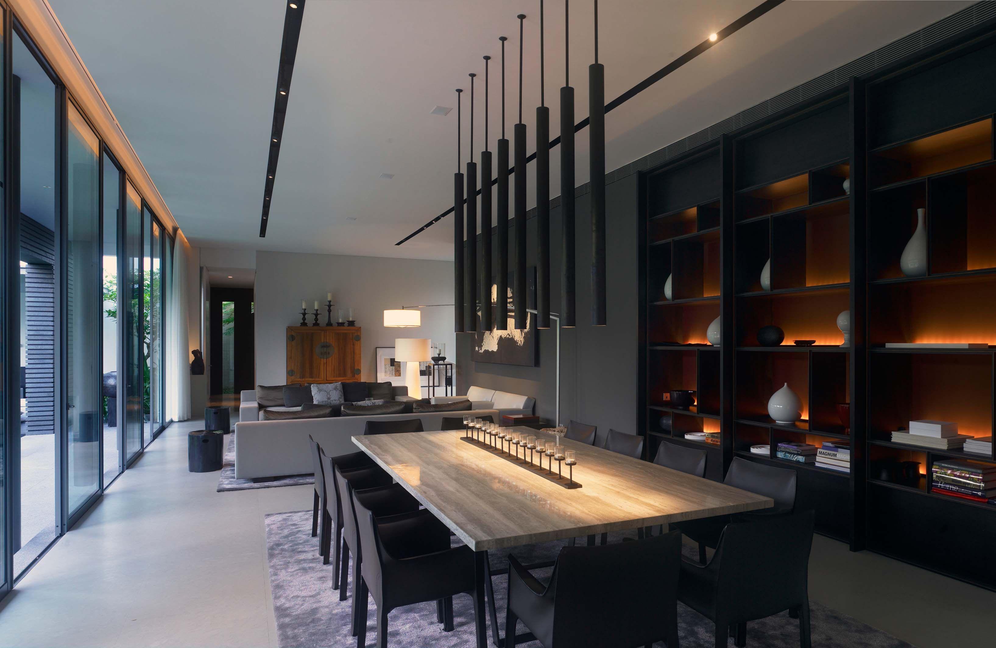 scda holland road residence singapore interior pinterest wohnideen beleuchtung und esszimmer. Black Bedroom Furniture Sets. Home Design Ideas