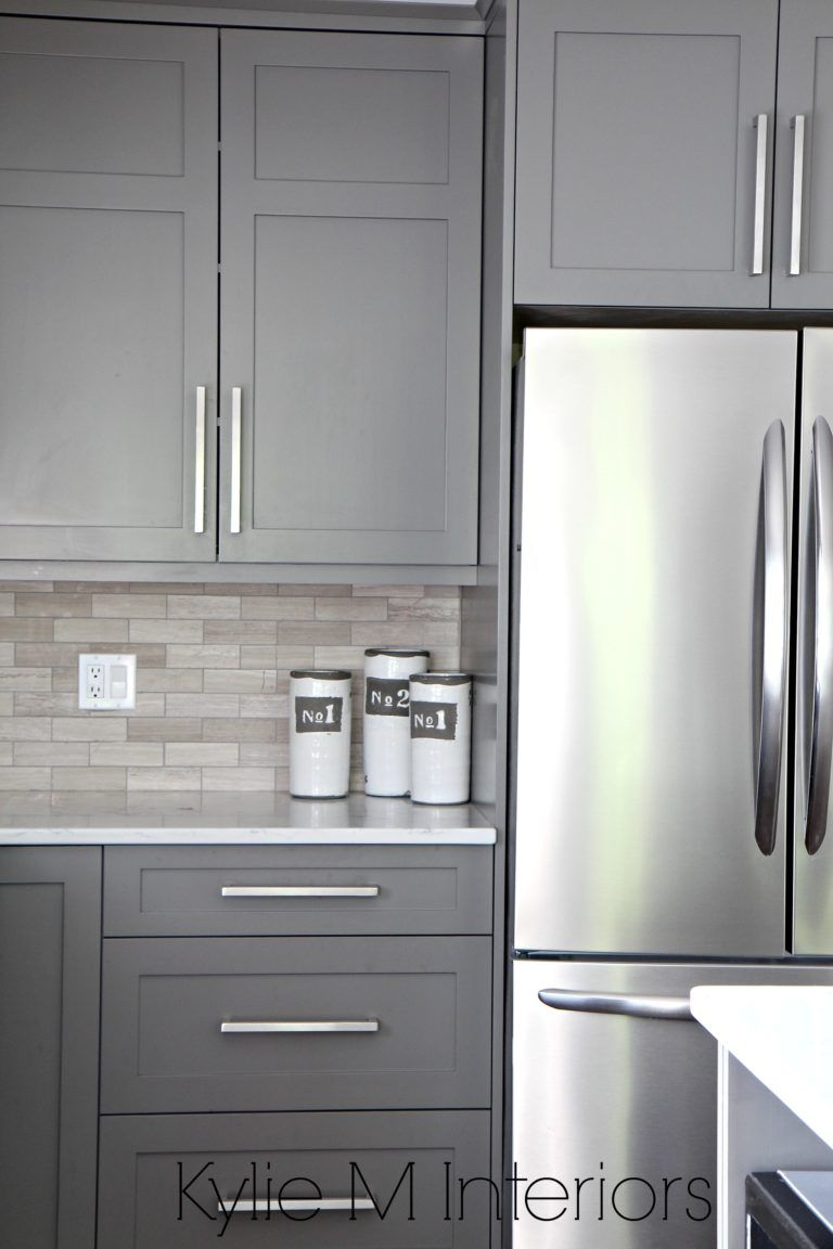 The 4 Best Gray Greige Colours For Cabinets Vanities Medium Toned Kitchen Cabinets Painted Grey Grey Kitchen Cabinets Kitchen Cabinets