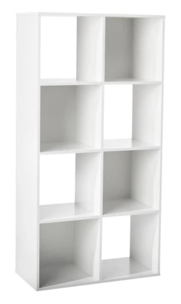 8 Cube Organizer Shelf 11 Room Essentials Cube Shelving Unit White Wood Shelves Shelves