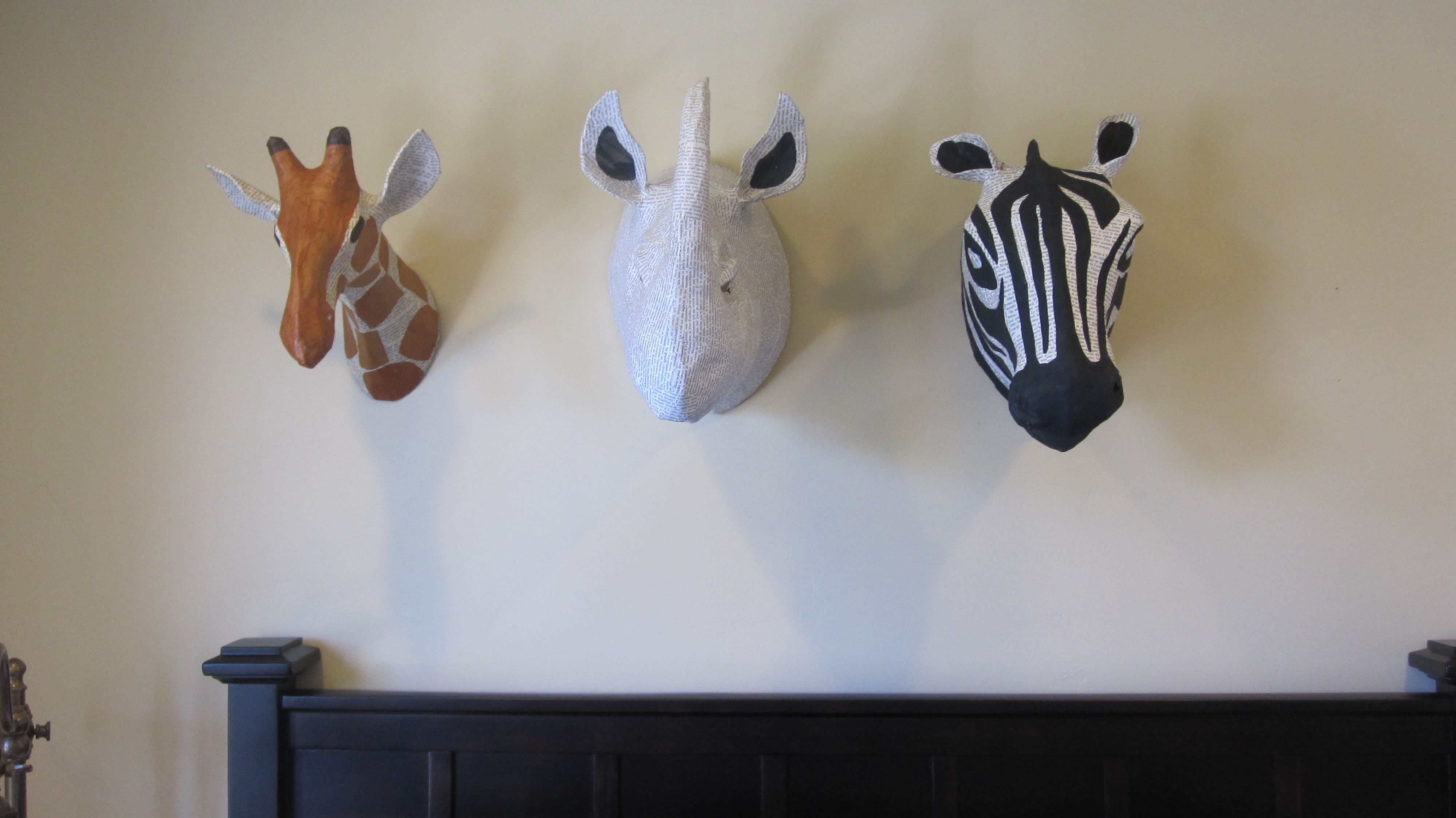 Paper mache animal heads how cool great ideas pinterest for Cool paper mache