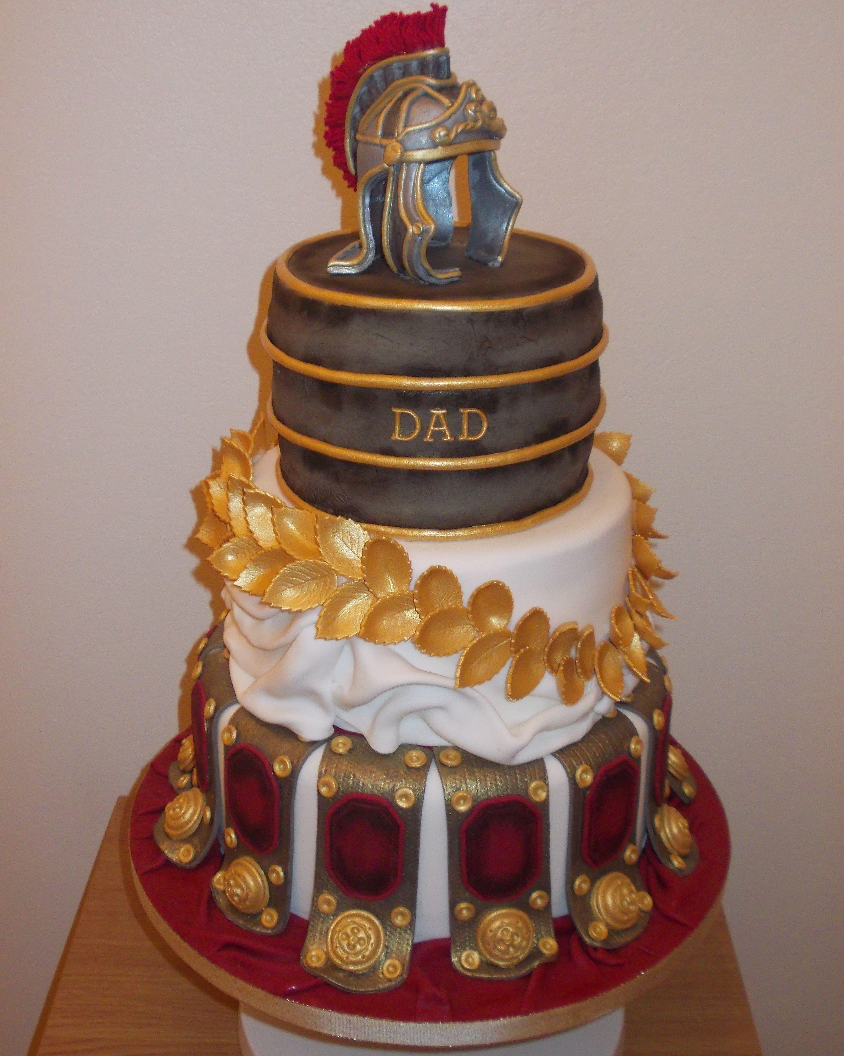 Roman Gladiator Cake Baby Shower In 2019 Cake