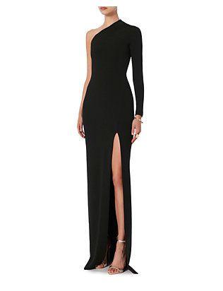 976fcb66aca4a Solace London Nadia One Shoulder Gown  Black